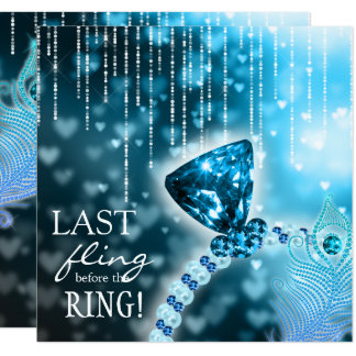 Last Fling before the Ring Bachelorette Blue Ring Card