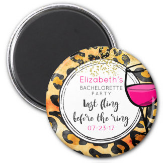 Last Fling Before The Ring Wild Bachelorette 2 Inch Round Magnet