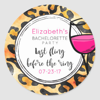 Last Fling Before The Ring Wild Bachelorette Classic Round Sticker