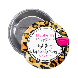 Last Fling Before The Ring Wild Bachelorette Party 2 Inch Round Button