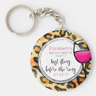 Last Fling Before The Ring Wild Bachelorette Party Basic Round Button Keychain