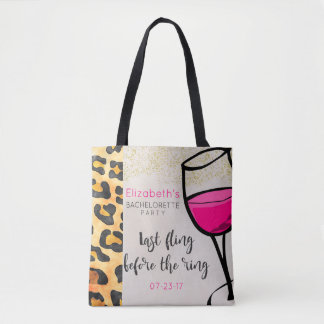 Last Fling Before The Ring Wild Print Bachelorette Tote Bag