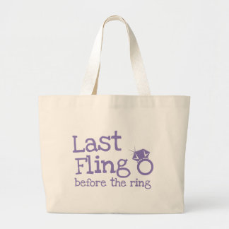 Last fling before the ring with diamond canvas bags