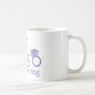 Last fling before the ring with diamond classic white coffee mug