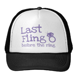 Last fling before the ring with diamond trucker hat