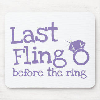 Last fling before the ring with diamond mouse mats