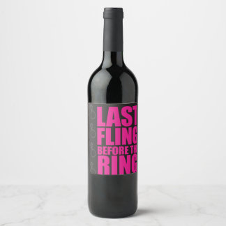 last fling wine label