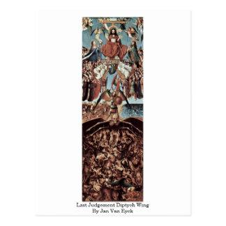 Last Judgement Diptych Wing By Jan Van Eyck Postcard