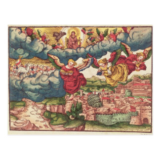 Last Judgement, from the Luther Bible, c.1530 Postcard