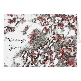 Last Leaves of Autumn Missing You Card