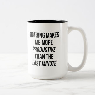Last Minute Two-Tone Coffee Mug