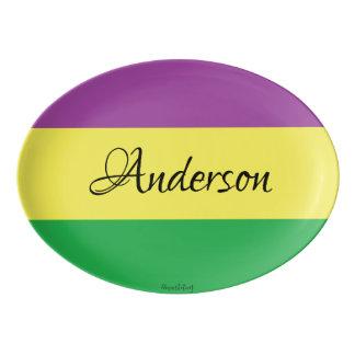 Last Name Custom Personalized Mardi Gras Platter