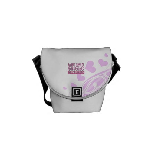 last night single bachelorette wedding party funny courier bag