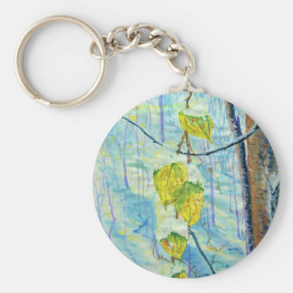 Last of the Leaves Basic Round Button Keychain