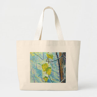 Last of the Leaves Large Tote Bag