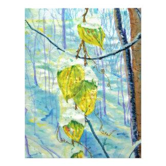 Last of the Leaves Letterhead Design