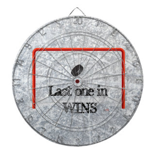Last One in Wins!  Hockey Dart Board