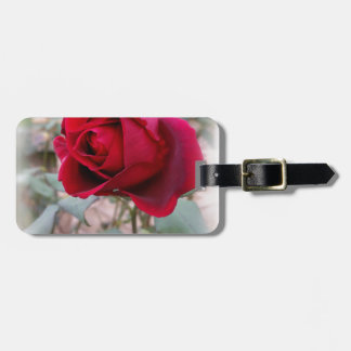last red rose luggage tag