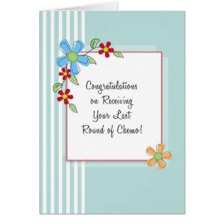 Last Round of Chemo Congratulations Card
