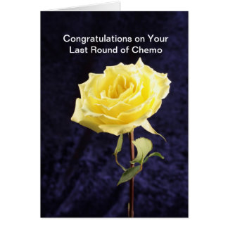 Last Round of Chemo Congratulations Card with Rose