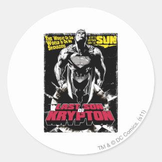 Last Son Comic Cover Round Sticker