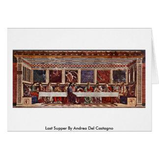 Last Supper By Andrea Del Castagno Card