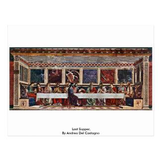 Last Supper, By Andrea Del Castagno Postcard
