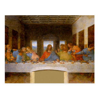 Last Supper Da Vinci Postcard