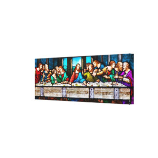 Last Supper Stretched Canvas Print 36x12