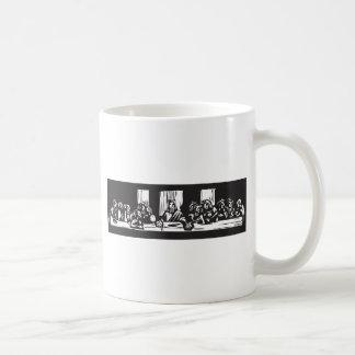 Last Supper Woodcut Classic White Coffee Mug