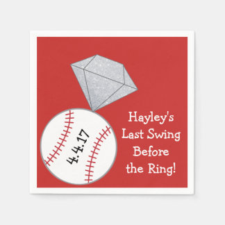Last Swing Before Ring Bachelorette Party Napkins Disposable Napkin