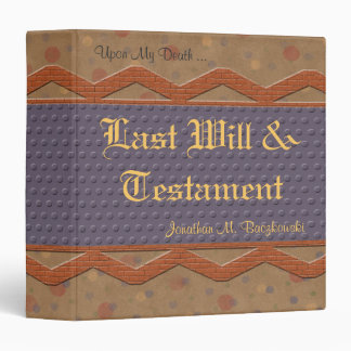 Last Will And Testament Avery Binder