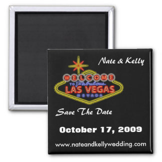 LasVegasSign, Nate & Kelly, Save The Date, Octo... Magnet