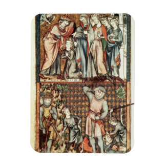 Lat 1023 f.7v David and Goliath with Saul by Le Be Rectangular Photo Magnet