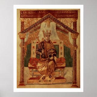 Lat 1152 f.3v Charlemagne (Carolus Magnus, Charles Poster