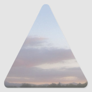 Late Afternoon 2 Triangle Sticker