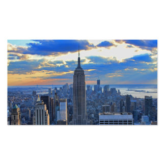 Late afternoon NYC Skyline as sunset approaches Business Card