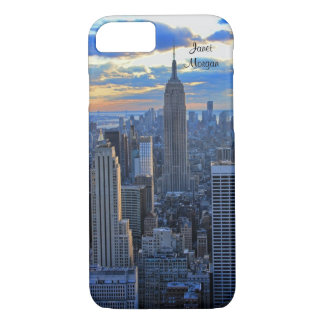 Late afternoon NYC Skyline as sunset approaches iPhone 7 Case