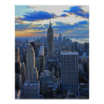 Late afternoon NYC Skyline as sunset approaches Posters