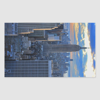 Late afternoon NYC Skyline as sunset approaches Sticker