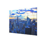 Late afternoon NYC Skyline as sunset approaches W Canvas Print