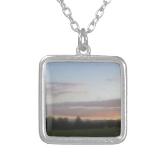 Late Afternoon Silver Plated Necklace
