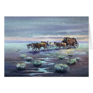 LATE AFTERNOON STAGECOACH by SHARON SHARPE Card
