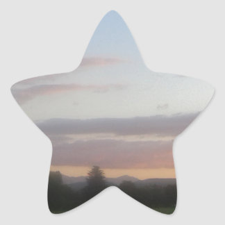 Late Afternoon Star Sticker