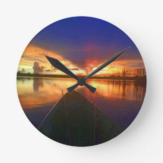 Late Afternoon Sunset Wallclock