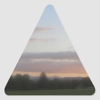 Late Afternoon Triangle Sticker