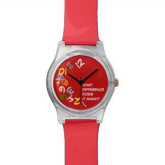 late anyway color numbers wrist watches