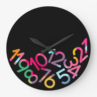 Late Anyway Fallen Numbers Funny Gravity Clock