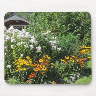 Late August Cottage Garden Mouse Pad