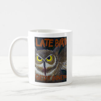 Late Bird Owl Motivational Painting Mug